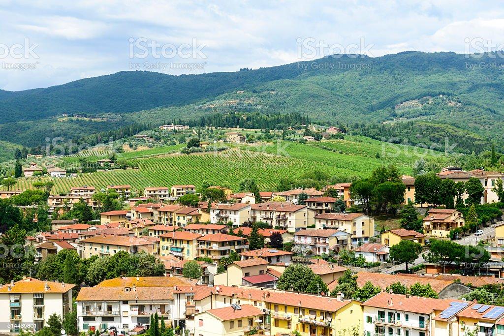 Greve in Chianti, Tuscany stock photo