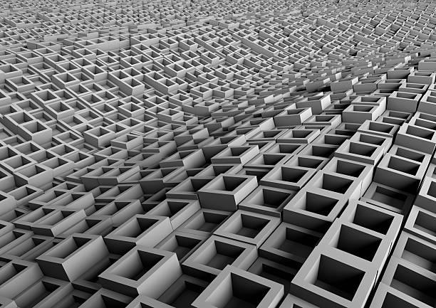 Grau abstrakt Wellen – Foto
