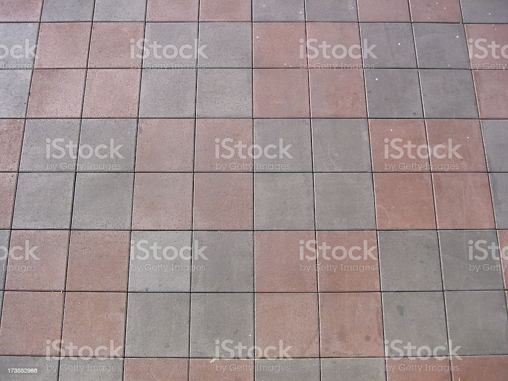Grey And Red Tiles royalty-free stock photo