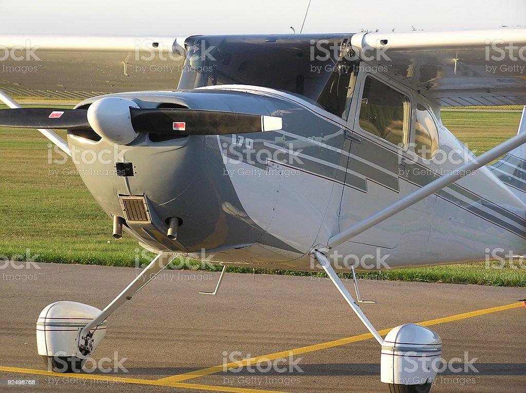 Grey and white plane royalty-free stock photo