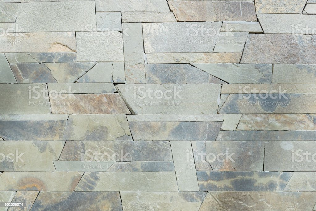 Brown and white Stone ceramic Brick wall beautiful color texture...