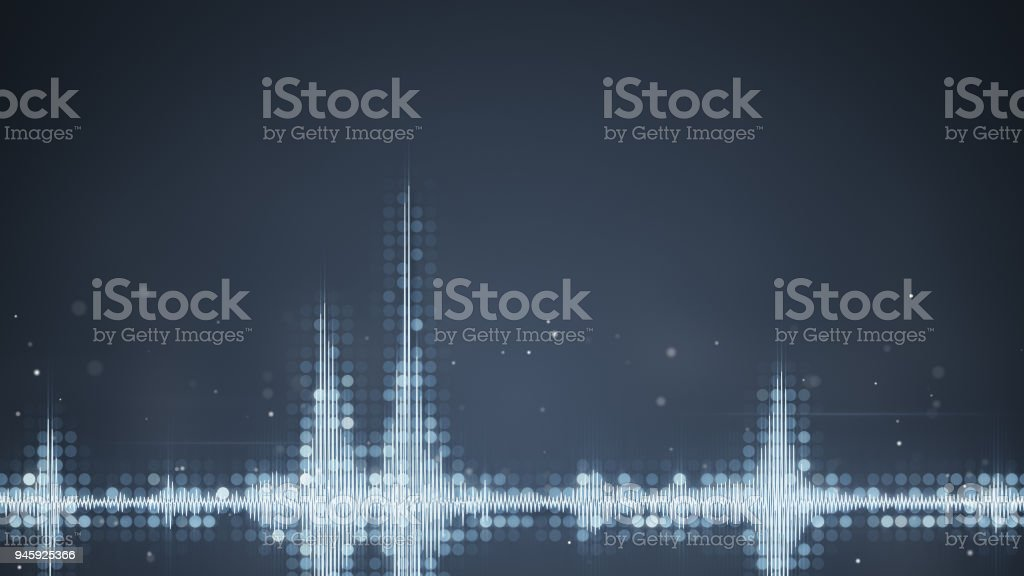 Grey audio waveform equalizer abstract techno background stock photo