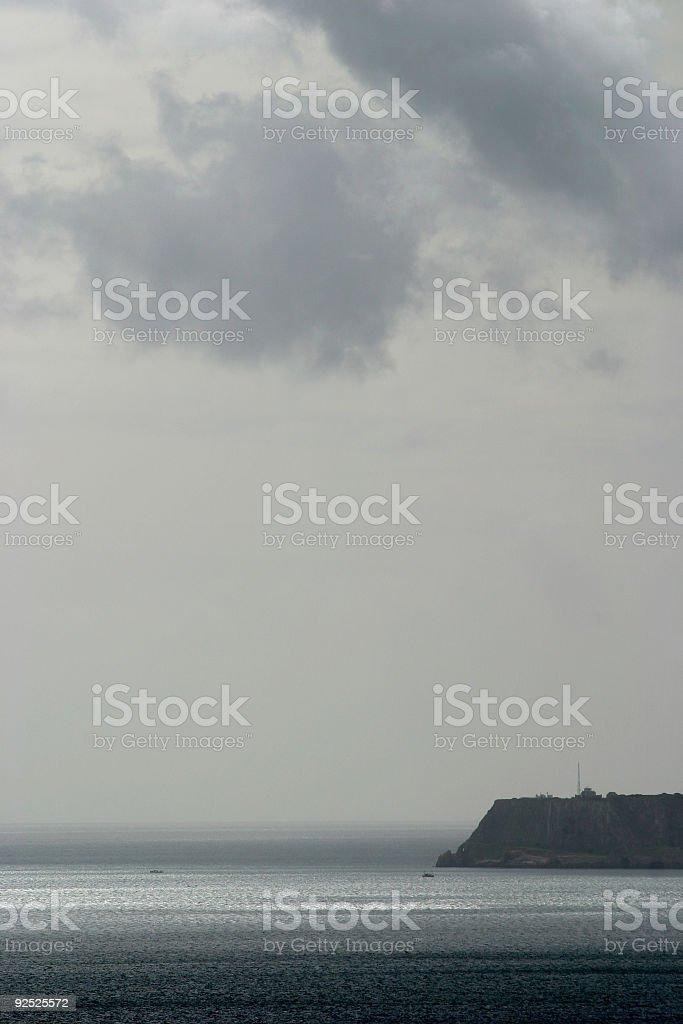 Grey bay royalty-free stock photo