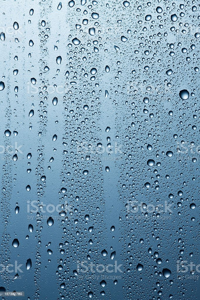 Grey blue condensation royalty-free stock photo