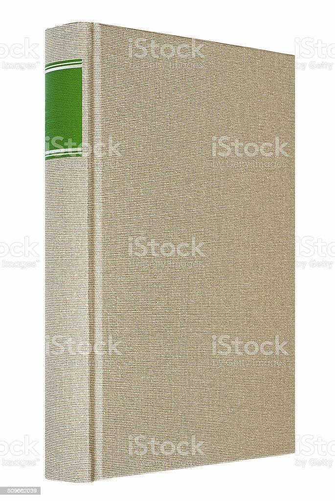 Grey book isolated on white background stock photo