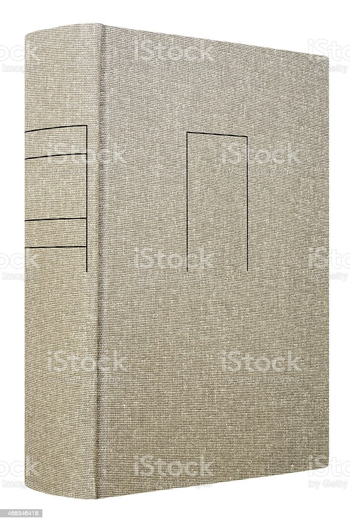 Grey book isolated on white royalty-free stock photo
