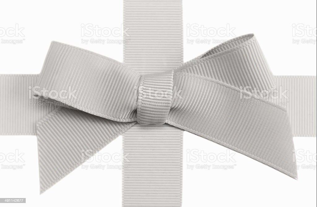 grey bow stock photo