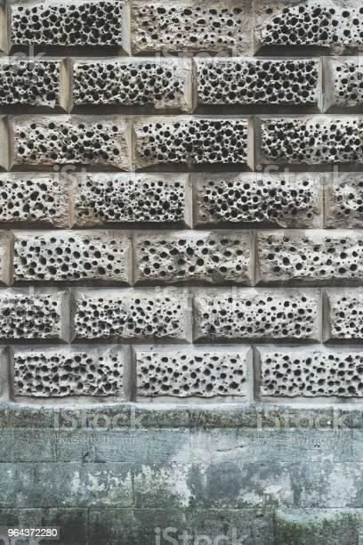 Foto de Fundo De Parede De Tijolo Cinza e mais fotos de stock de Arquitetura