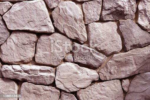 White color of stone brick wall texture abstract background.
