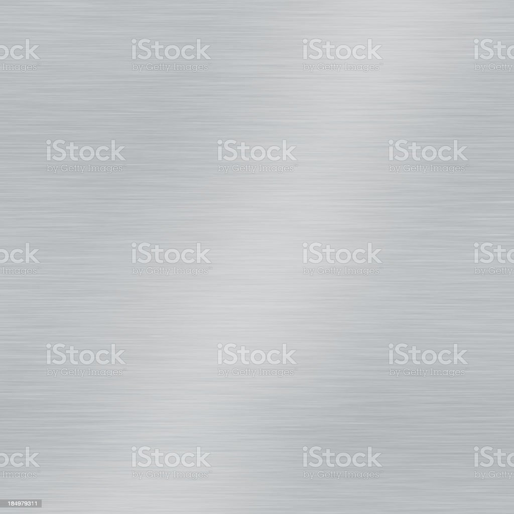Grey brushed metal plate square sample stock photo