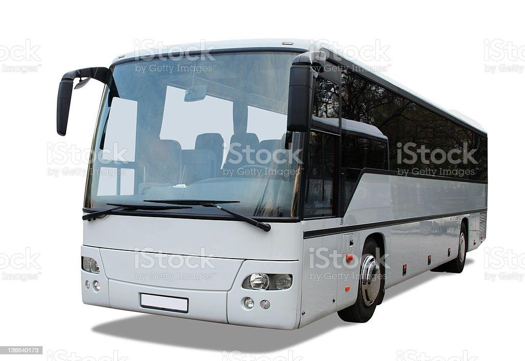 Grey bus royalty-free stock photo