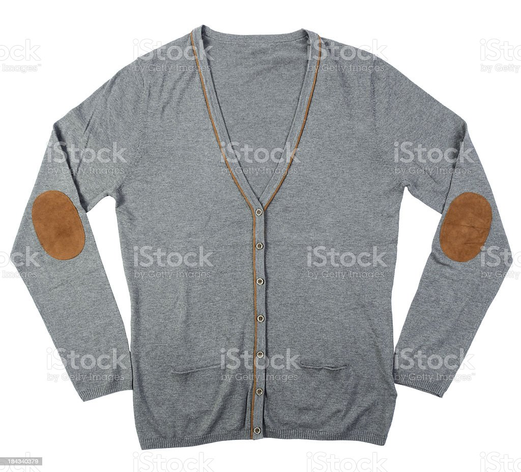 grey cardigan stock photo