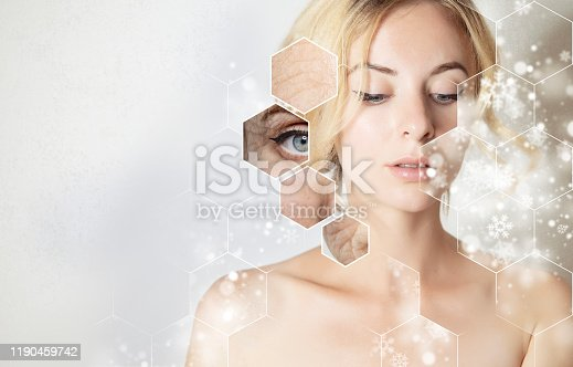 2020 christmas skin treatment, new year banner for beauty salon