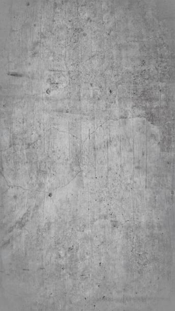 Graue Betonwand, Grauer Hintergrund, Graue Textur, Industrial Design – Foto