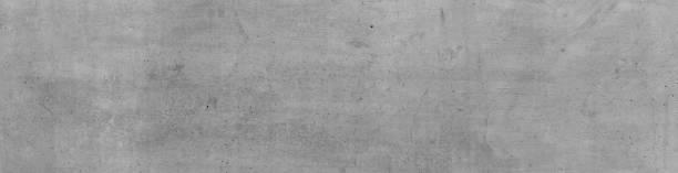 Graue Betonmauer, horizontale Wand Struktur im Industrial Design. Grauer Banner Hintergrund. – Foto