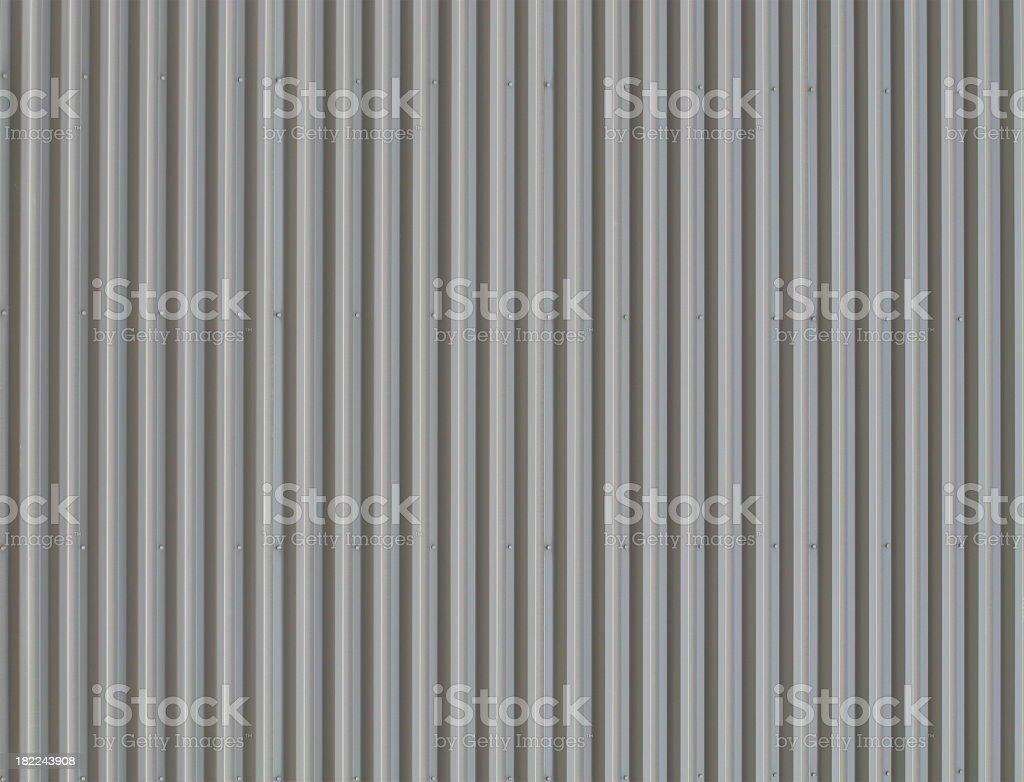 Grey Corrugated Metal Background. royalty-free stock photo