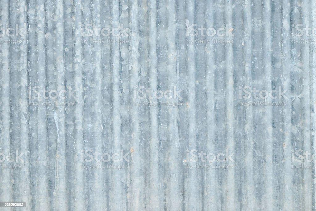 Grey cprrugated iron wall. stock photo