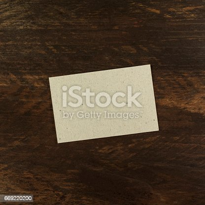 istock Grey craft business card, blank for copyspace 669220200