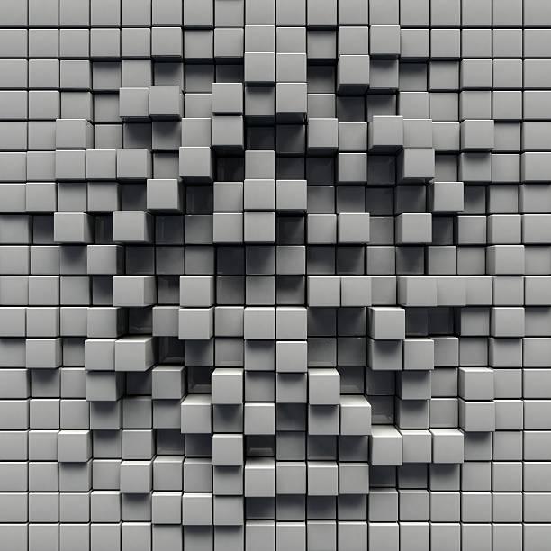 grey cube background - Photo