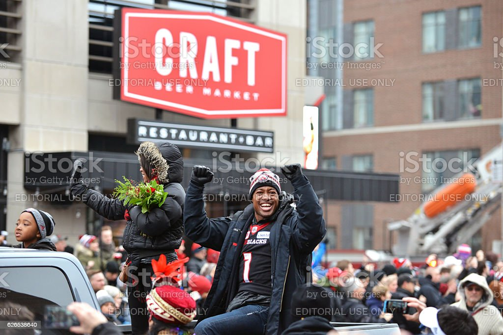Grey Cup MVP Henry Burris in parade stock photo