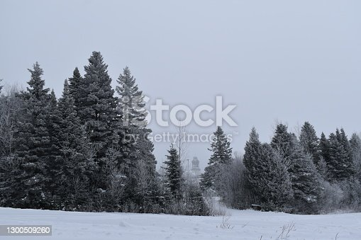 Une journée grise de Janvier, Sainte-Apolline, Québec