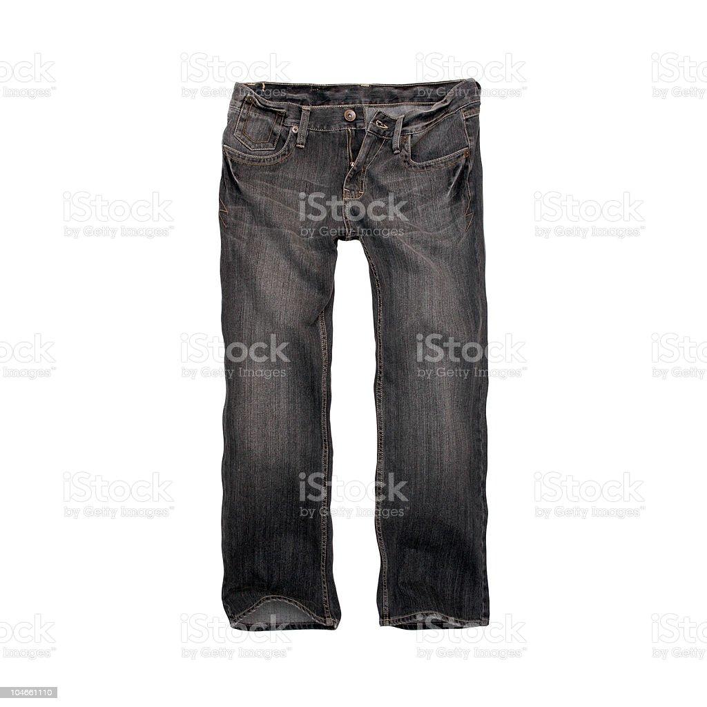 Grey, Designer Jeans for Men - White Background royalty-free stock photo