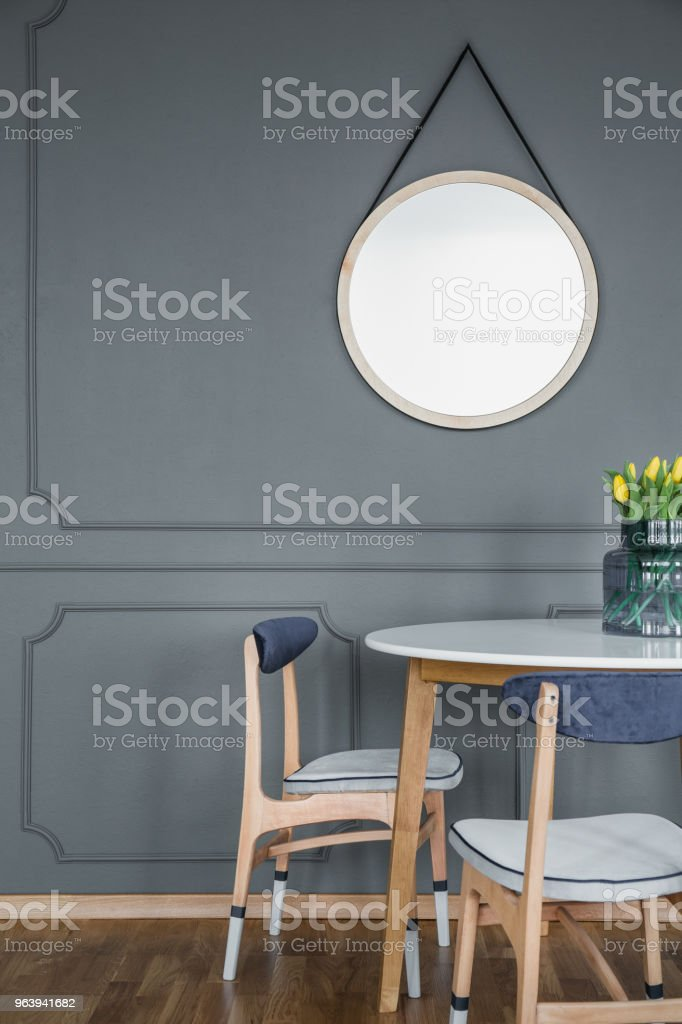 Grey dining room - Royalty-free Apartment Stock Photo