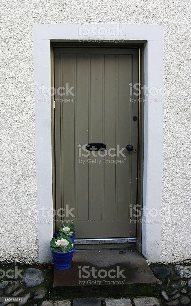 Grey Door royalty-free stock photo