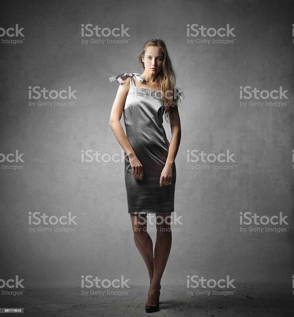 Grey dress royalty-free stock photo