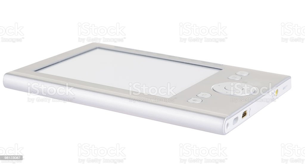 Grey electronic book royalty-free stock photo