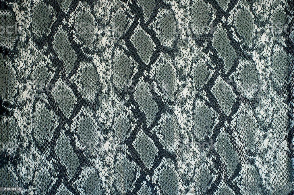 Grey fabric with snake print stock photo