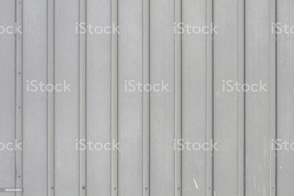 Grey garage door in metal grungy look royalty-free stock photo