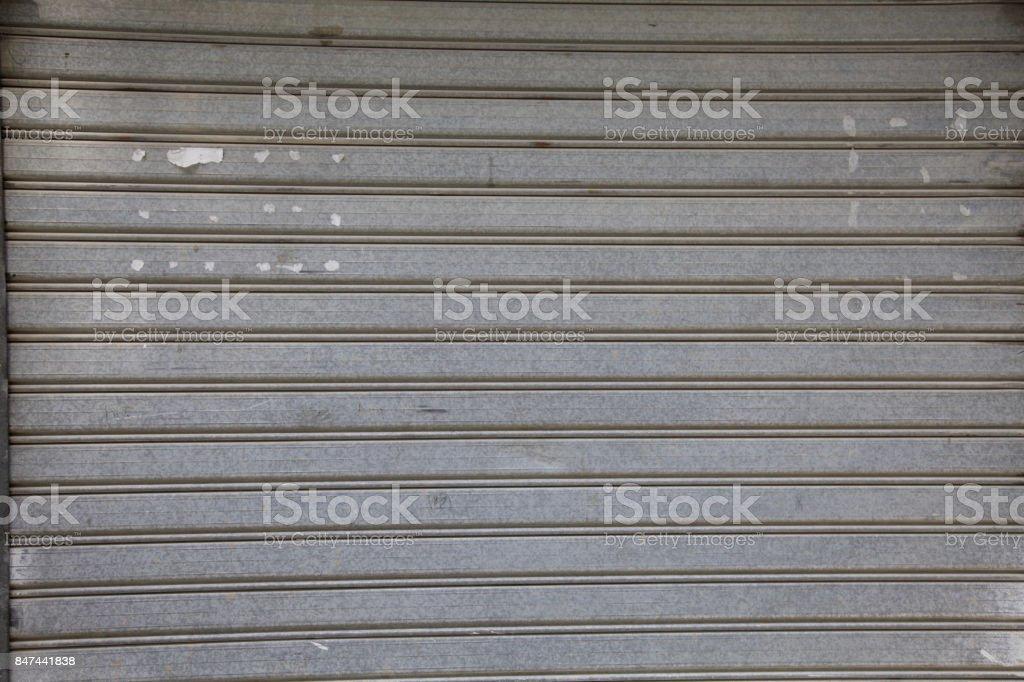 Grey Garage Gate Texture Metal Front Door Old Pattern Shop