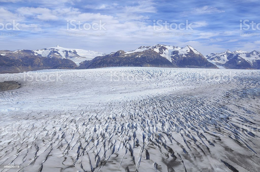 Grey glacier. royalty-free stock photo