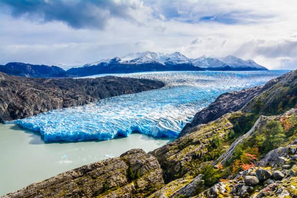 grey glacier,patagonia, chile,patagonian ice field, cordillera del paine - 빙하 뉴스 사진 이미지