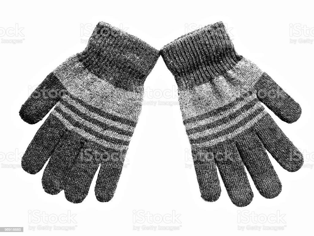 Grey gloves royalty-free stock photo