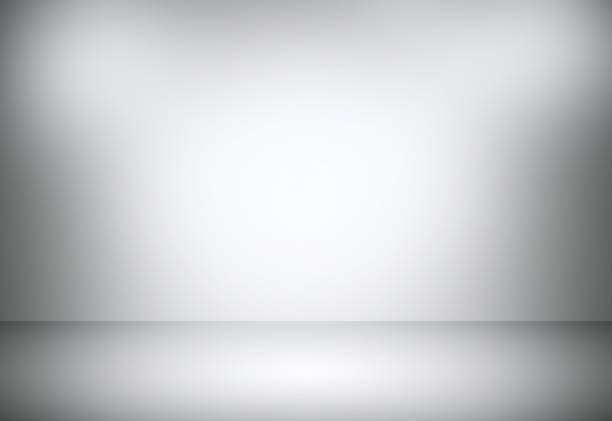 Grey gradient abstract background / gray room studio background. - Photo