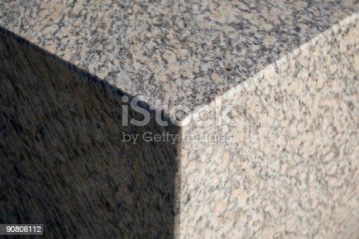 istock grey granite cube fragment 90806112