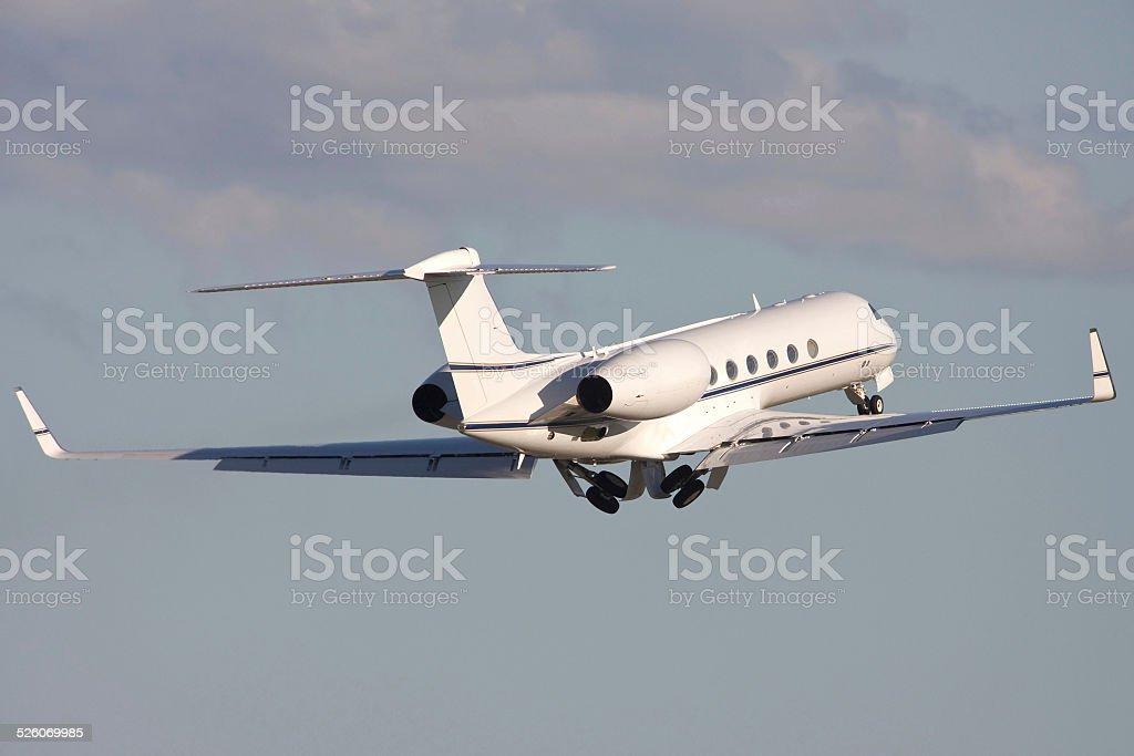 Grey Gulfstream Luxury Business Jet stock photo