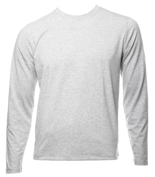 Royalty free long sleeve t shirt template pictures images and stock grey heathered longsleeve cotton tshirt template isolated stock photo maxwellsz