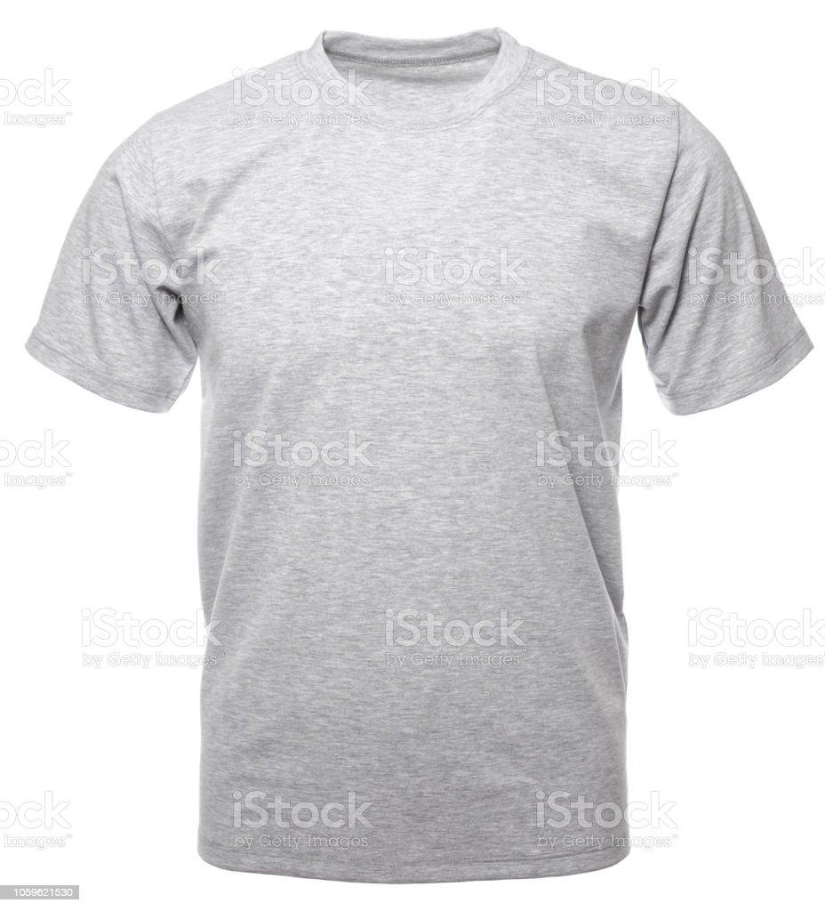 灰色麻灰色絲帶棉 t恤隱形人體模型查出的 - 免版稅Generic圖庫照片