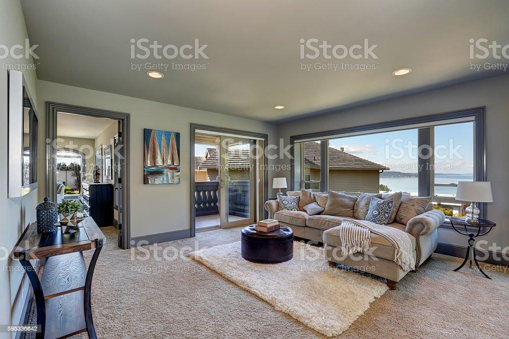 Marvelous Grey Interior Of Cozy Family Room With Comfortable Couch Frankydiablos Diy Chair Ideas Frankydiabloscom