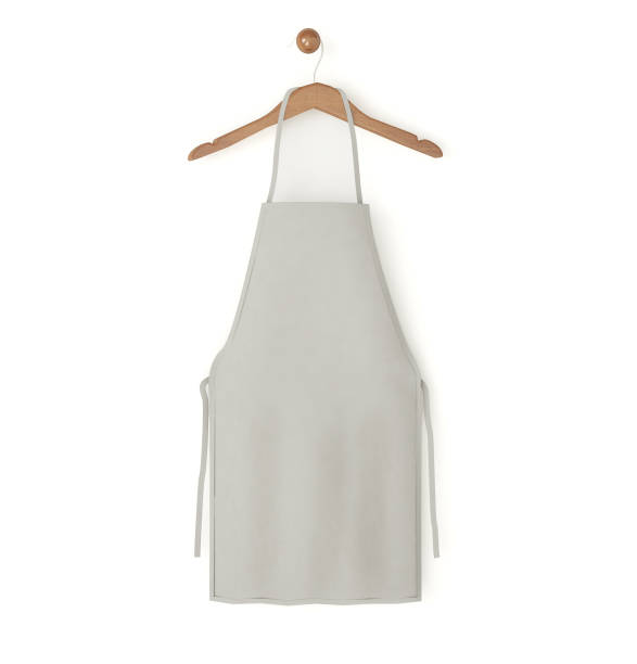 grey isolated apron grey isolated apron 3d rendering apron stock pictures, royalty-free photos & images