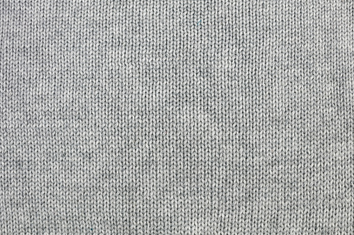 Grey knitted background