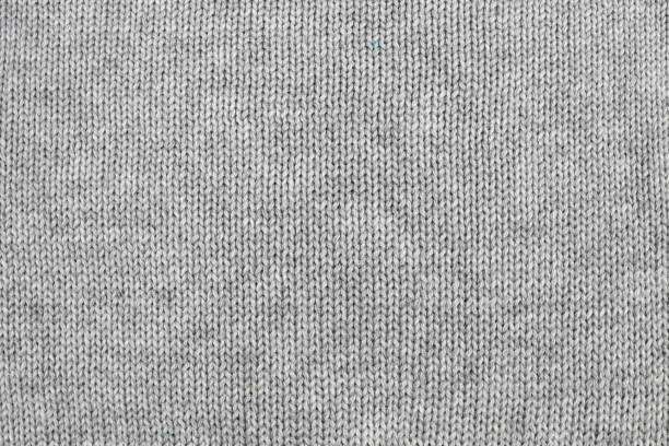 grey knitted background - wool stock photos and pictures