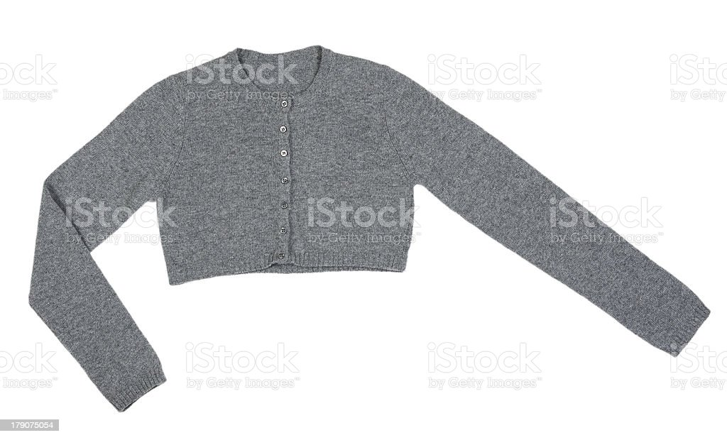 Grey knitted boleros royalty-free stock photo