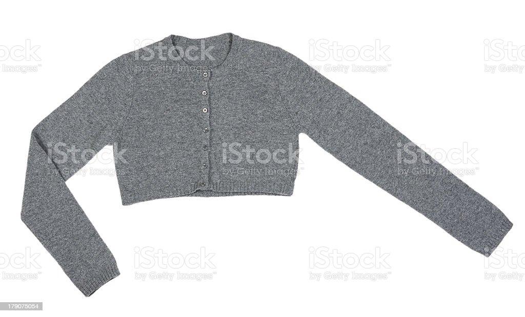 Grey knitted boleros stock photo