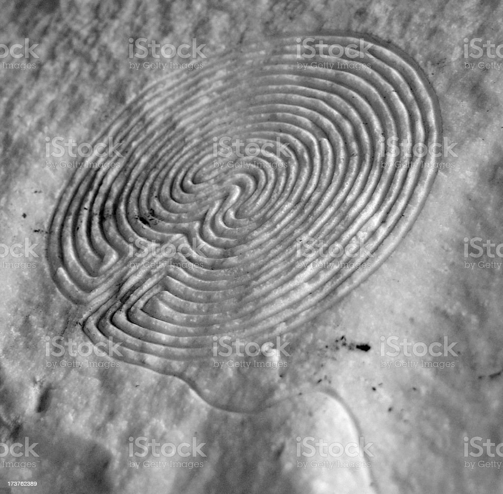 Grey Labyrinth royalty-free stock photo