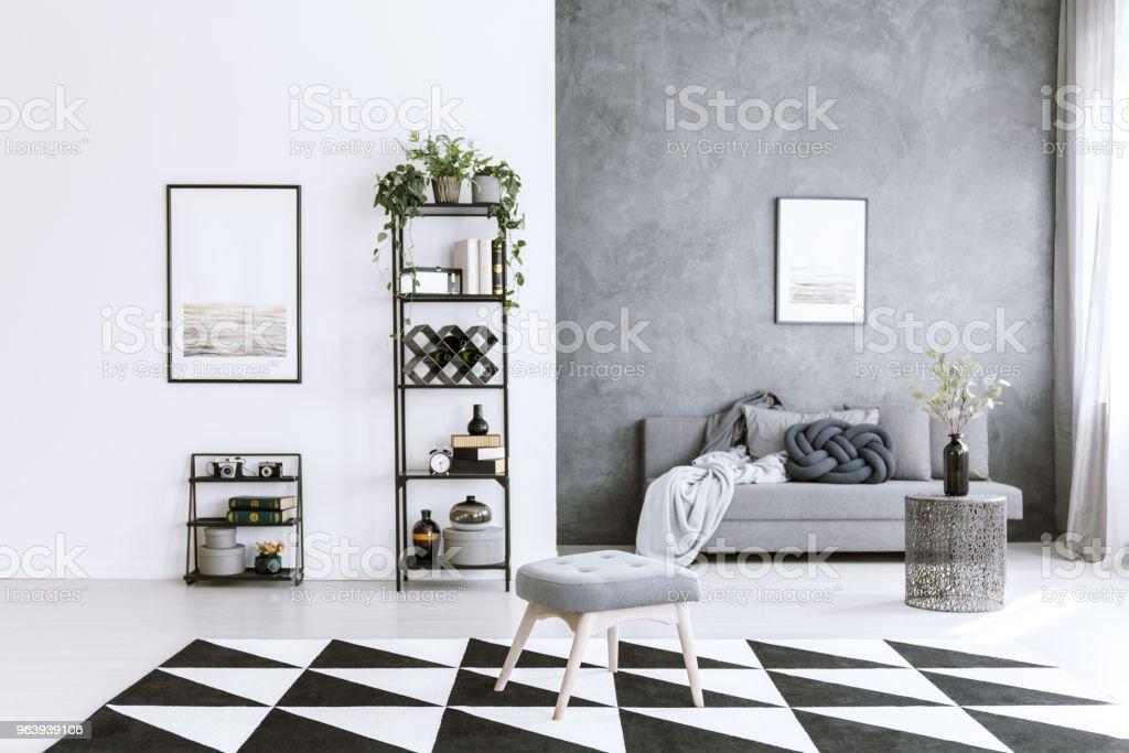 Grey living room - Royalty-free Apartment Stock Photo