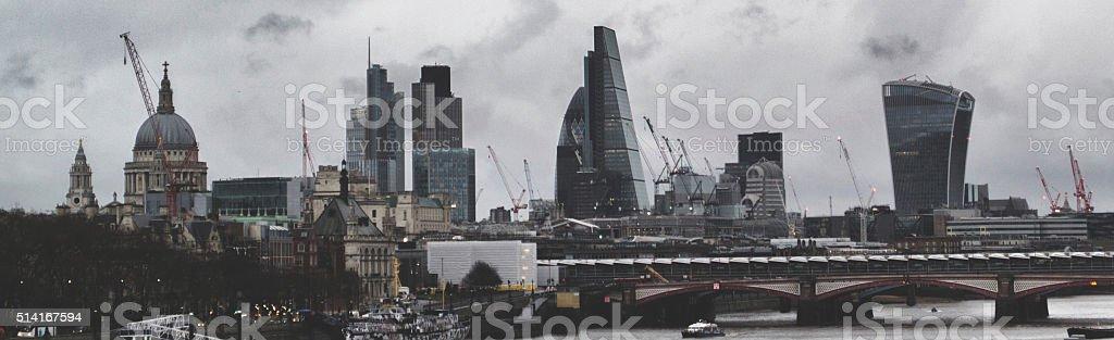Grey London Skyline stock photo